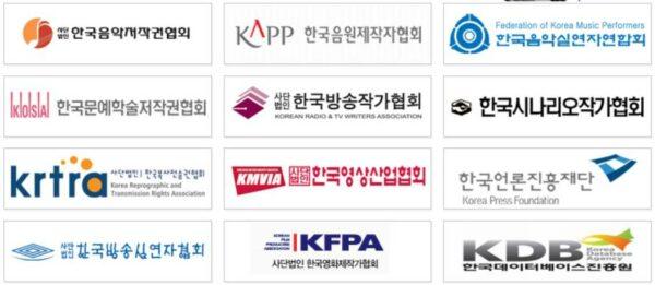 한국저작권단체연합회 산하 단체