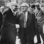 아도르노와 호르크하이머 (1964)