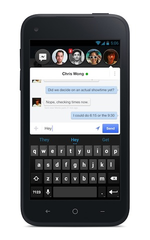 페이스북의 챗 헤드 기능