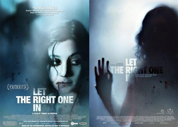 소녀 뱀파이어를 소재로 한 영화 '렛미인'의 포스터  원제: 'Låt den rätte komma in (2008, Tomas Alfredson)   ©2008 - Sandrew Metronome
