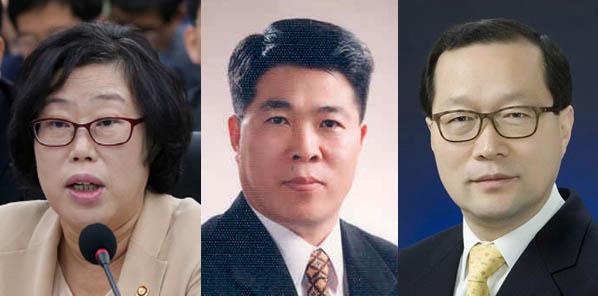 왼쪽부터 윤진숙 장관, 우예종 실장, 문해남 실장
