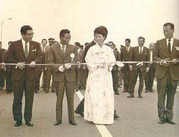경부고속도로 개통식 (1970년 7월 7일) 출처: 박정희 대통령 기념재단