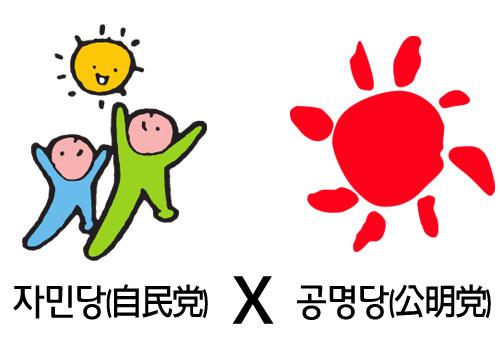 일본의 연립 여당인 자민당과 공명당
