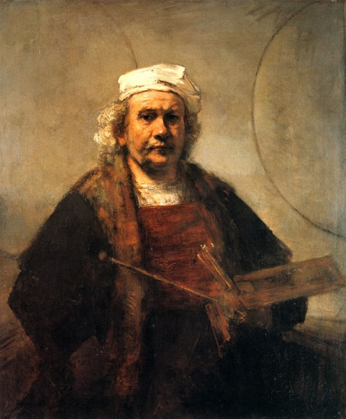 Self-Portrait with Two Circles