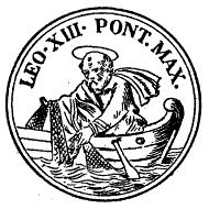 교황 레오 13세의 '어부의 반지' 문양 (출처: 위키커먼스)