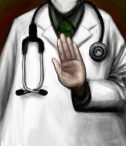 의사들의 반대를 잠재울 '꼼수'가 필요하다.  (그림: Truthout.org, CC BY)