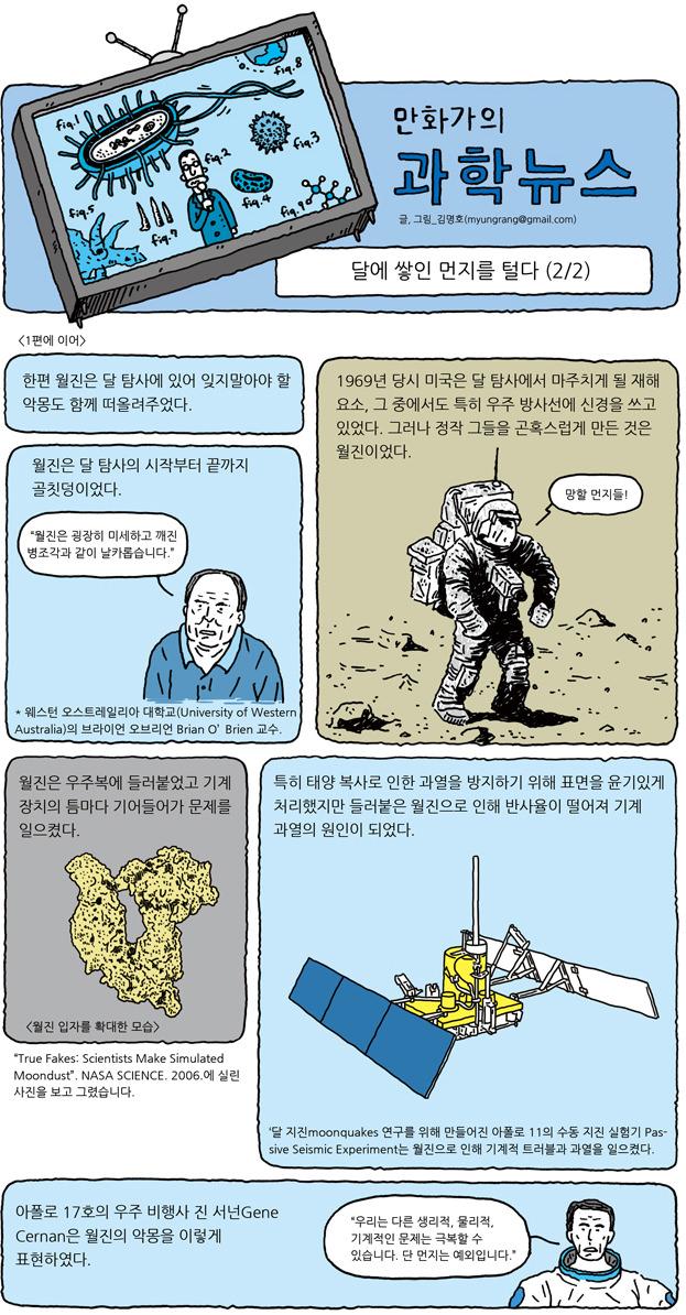 만화가의 과학뉴스 - 달에 쌓인 먼지를 털다 (하) 1/5