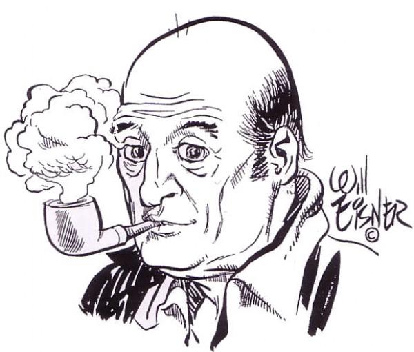 출처: The Comics Reporter 에 소개된 윌 아이스너의 자화상
