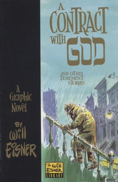 """피베이스닷컴에서 공유한 """"신과의 계약"""" 표지, '윌 아이스너의 그래픽 노블'이라는 표기가 선명하다"""