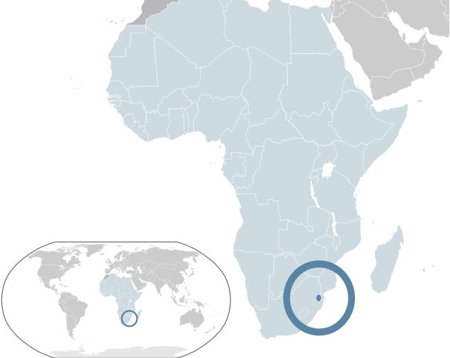 스와질란드는 인구 100만 명의 작은 왕국이다.