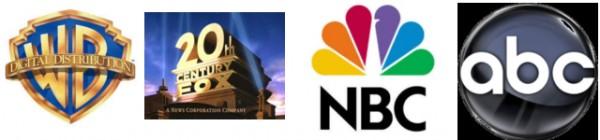 워너브라더스 20세기폭스 NBC ABC