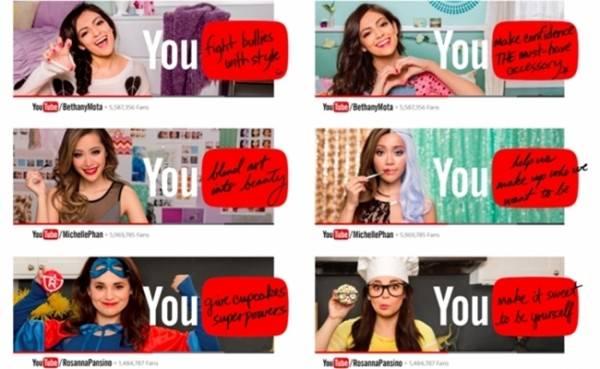 뉴욕 지하철 광고에 등장에 유튜브 스타들