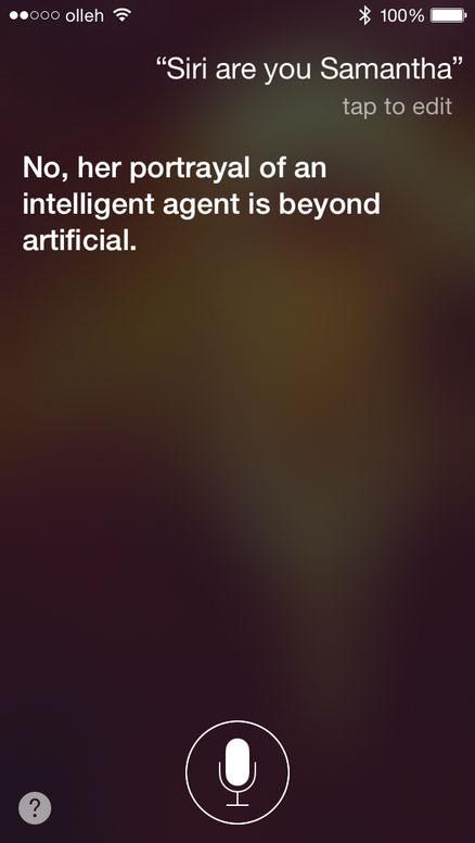 Siri are you samantha?