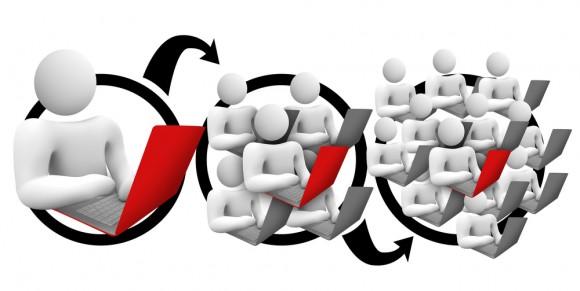 바이럴 마케팅 기법도 고전적인 '피라미드'와 본질적으로 차이가 나는 건 아니다 (이미지: blogbeast.co) http://blogbeast.co/empower-network-blogging-system/