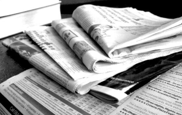 Newspapers B&W   CC BY