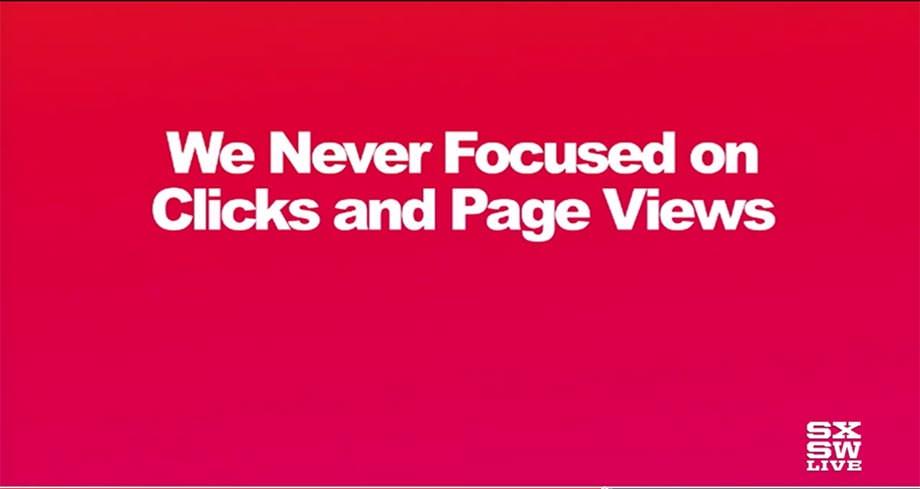 버즈피드 - 우리는 클릭과 페이지뷰에 집중하지 않는다.