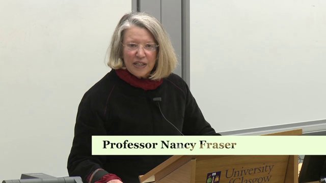 Nancy Fraser : 'Behind Marx's 'hidden abode': Toward an expanded conception of Capitalism'.  https://vimeo.com/89540599