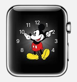 애플 워치. 미키 마우스 페이스