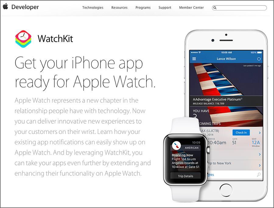 워치킷(WatchKit)이라는 개발 환경을 제공하지만, 아직 앱이 많지 않다.
