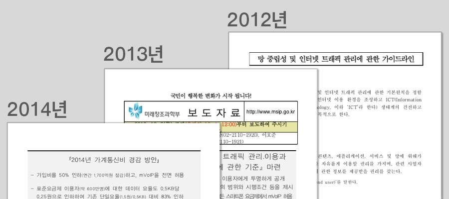 한국의 망중립성 정책들