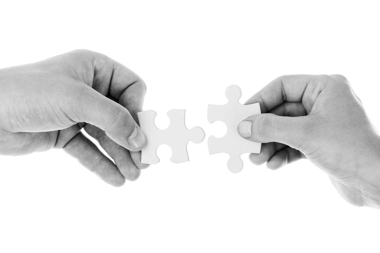 악수 협력 협동 손 퍼즐
