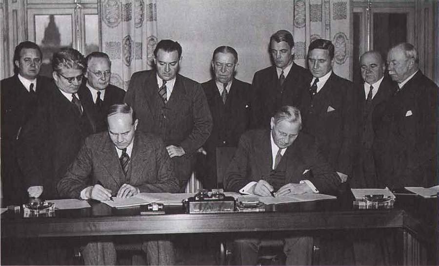 1938년 살트셰바덴 대협약 중