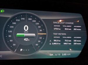 테슬라 모델 S로 서울에서 부산 도착 (1)