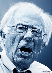 DonkeyHotey, Bernie Sanders - Caricature, CC BY