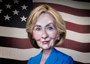 DonkeyHotey, Hillary Clinton-Caricature, CC BY https://flic.kr/p/A9MuTa