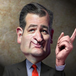 DonkeyHotey, Ted Cruz - Caricature, CC BY https://flic.kr/p/pfeXXk