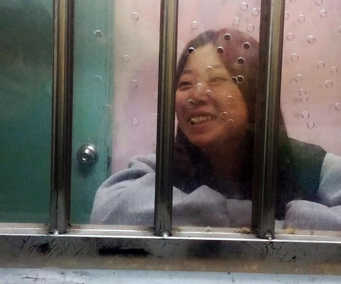 구치소에 갇힌 청년 (사진 제공: 청년좌파)