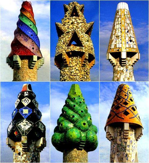 가우디의 굴뚝 디자인 (출처: CulturaPrimavera2010)