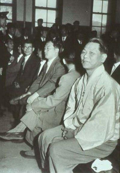 1958년 진보당 사건 재판 당시 조봉암의 모습