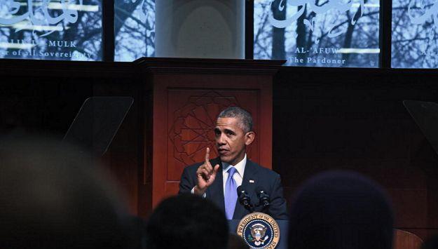 미국 내 모스크에 처음으로 방문해 연설하는 오바마 (ⓒ Kenneth K. Lam / Baltimore Sun) http://www.baltimoresun.com/news/maryland/politics/bs-md-obama-mosque-visit-20160203-story.html