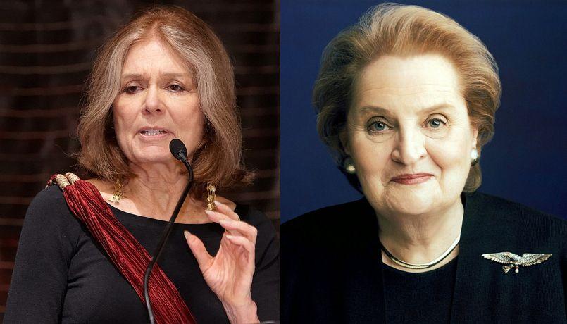 글로리아 스테이넘(왼쪽, 위키백과 공용, CC BY)과 매들린 올블라이트 https://en.wikipedia.org/wiki/Gloria_Steinem#/media/File:G_steinem_2011.jpg
