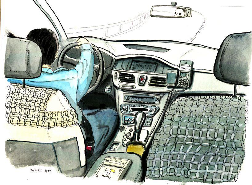 택시 운전 자동차