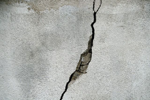 균열 지진 틈새 벽 건물