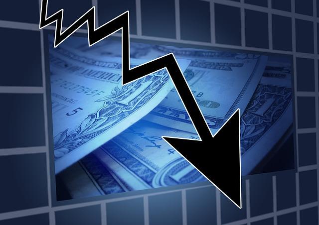 주식 주가 하락 추락 경기하락 투자위험 경제
