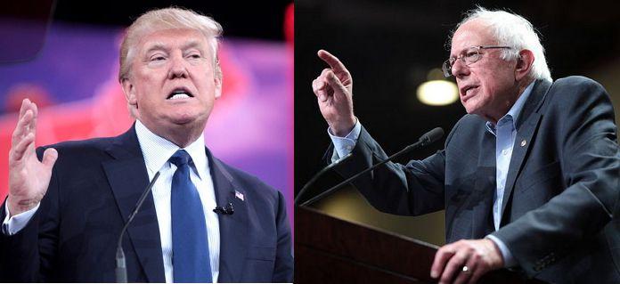 트럼프와 샌더스 (출처: Gage Skidmore, CC BY SA)