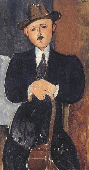 "Amedeo Modigliani, ""Seated Man with a Cane""(1918)"