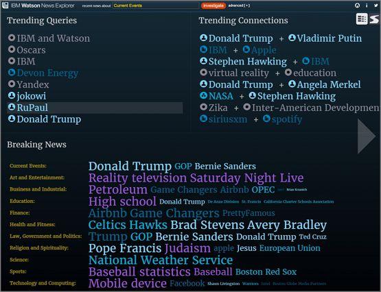 뉴스 익스플로러 http://news-explorer.mybluemix.net/
