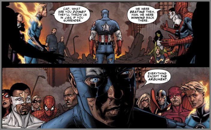 © marvel.com comic book 'civil war'