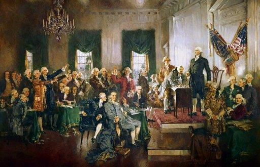 Howard Chandler Christy, '미국의 헌법 서명', 1940년 작