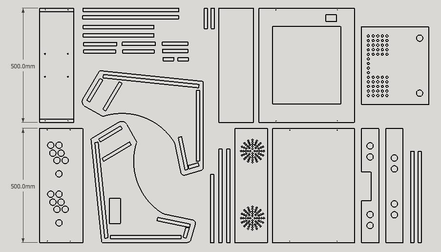 기본 도안을 이용하여 스케치업으로 커스텀한 최종 도안