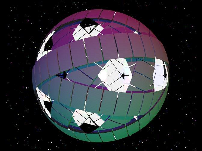 다이슨 스피어의 개념도 https://upload.wikimedia.org/wikipedia/commons/1/1e/Dyson_rings.PNG