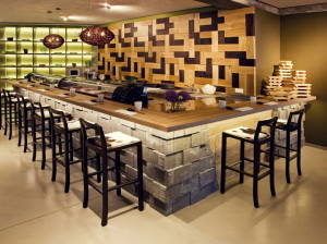 'Moriki Restaurant', Interior design, Frankfurt am Main, 2013