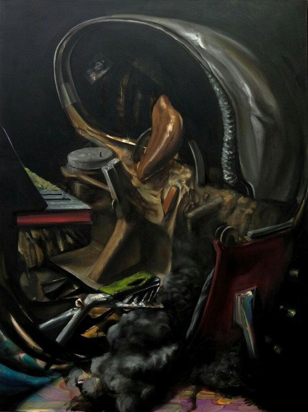 안재홍 작가 작품 - Unspecified Past Time Machine, 2012, 120 x 160 cm, Oil on canvas (사진 제공: 안재홍)
