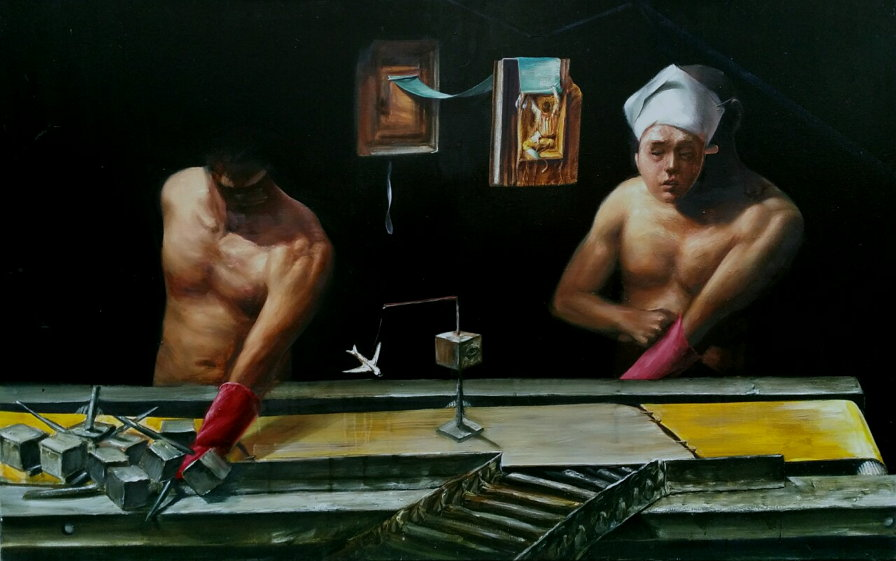 안재홍 작가 작품 - To Settle The Score, 2014, 160 x 100 cm, Oil on canvas (사진 제공: 안재홍)