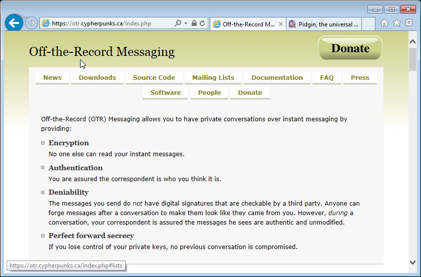 보안 메신저 OTR + Pidgin #2