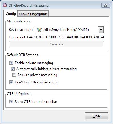 보안 메신저 OTR + Pidgin #23